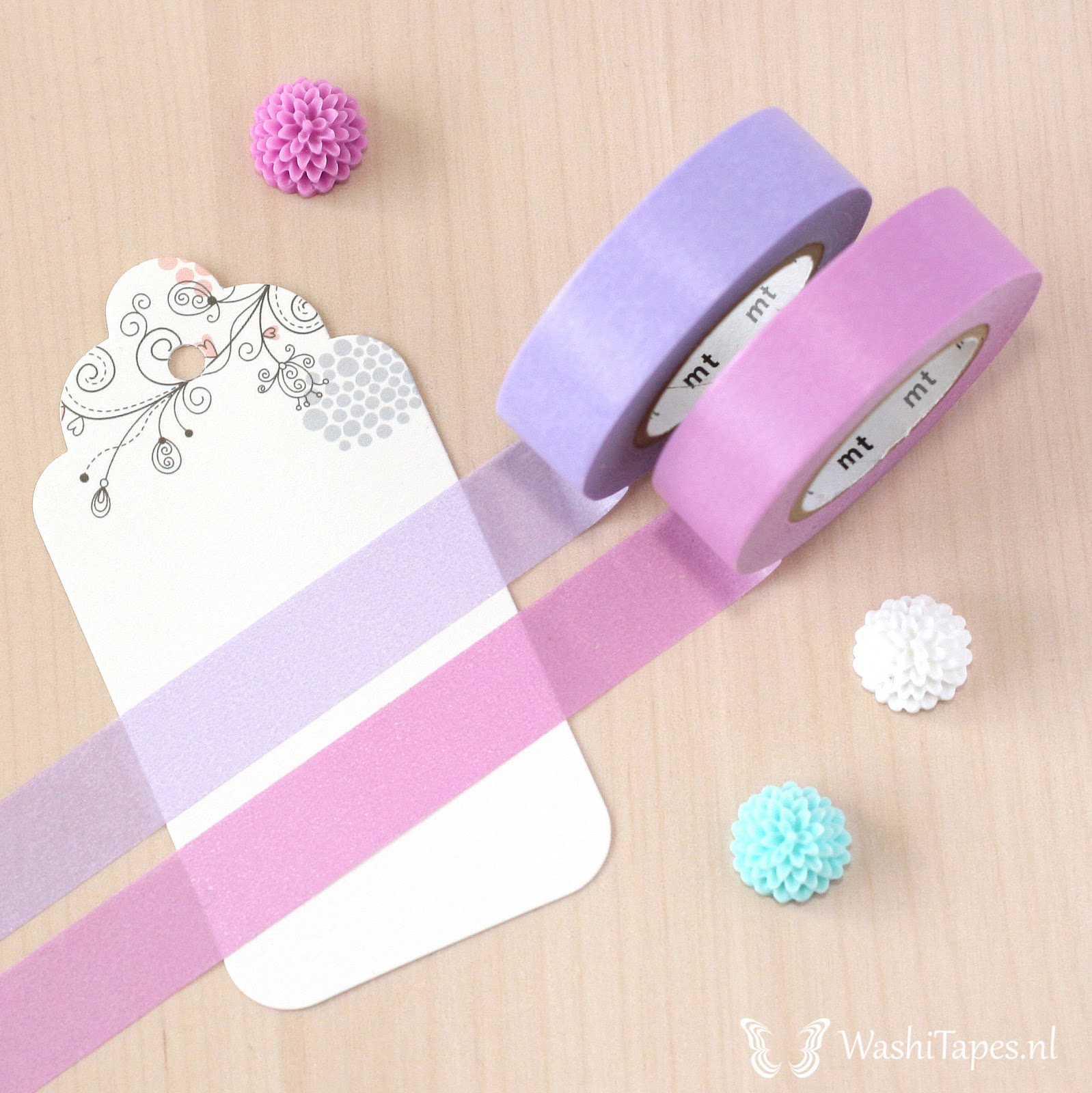 Radiant Orchid mt Washi Tape Set - 2 x 15 meters | WashiTapesNL www.washitapes.nl