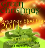 green christmas blog hop