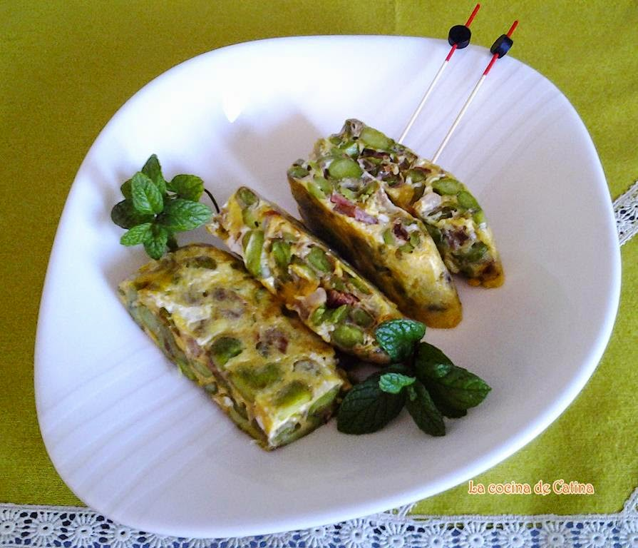 Tortilla de habas - Habas tiernas con jamon ...