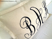 Here's how to make the monogrammed lumbar pillow: