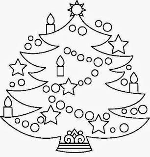 Arbol de Navidad para Colorear, parte 3
