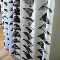 How to Make Block Stamped Curtains