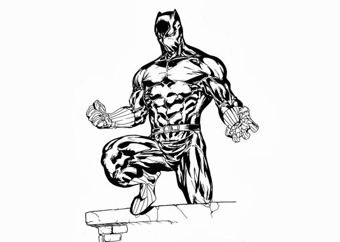 Coloring Black Panther Civil War