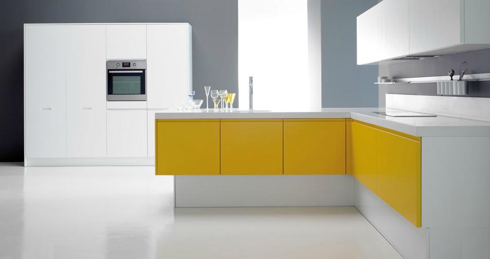 El amarillo en la cocina tambi n luce cocinas con estilo - Muebles de cocina forlady el corte ingles ...