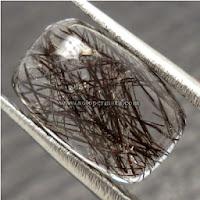 Batu Permata Kecubung Rambut Hitam