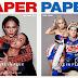 """Jennifer Lopez y CL posan junto a sus diseñadores favoritos en la portada de la revista """"Paper"""" en su edición de septiembre."""