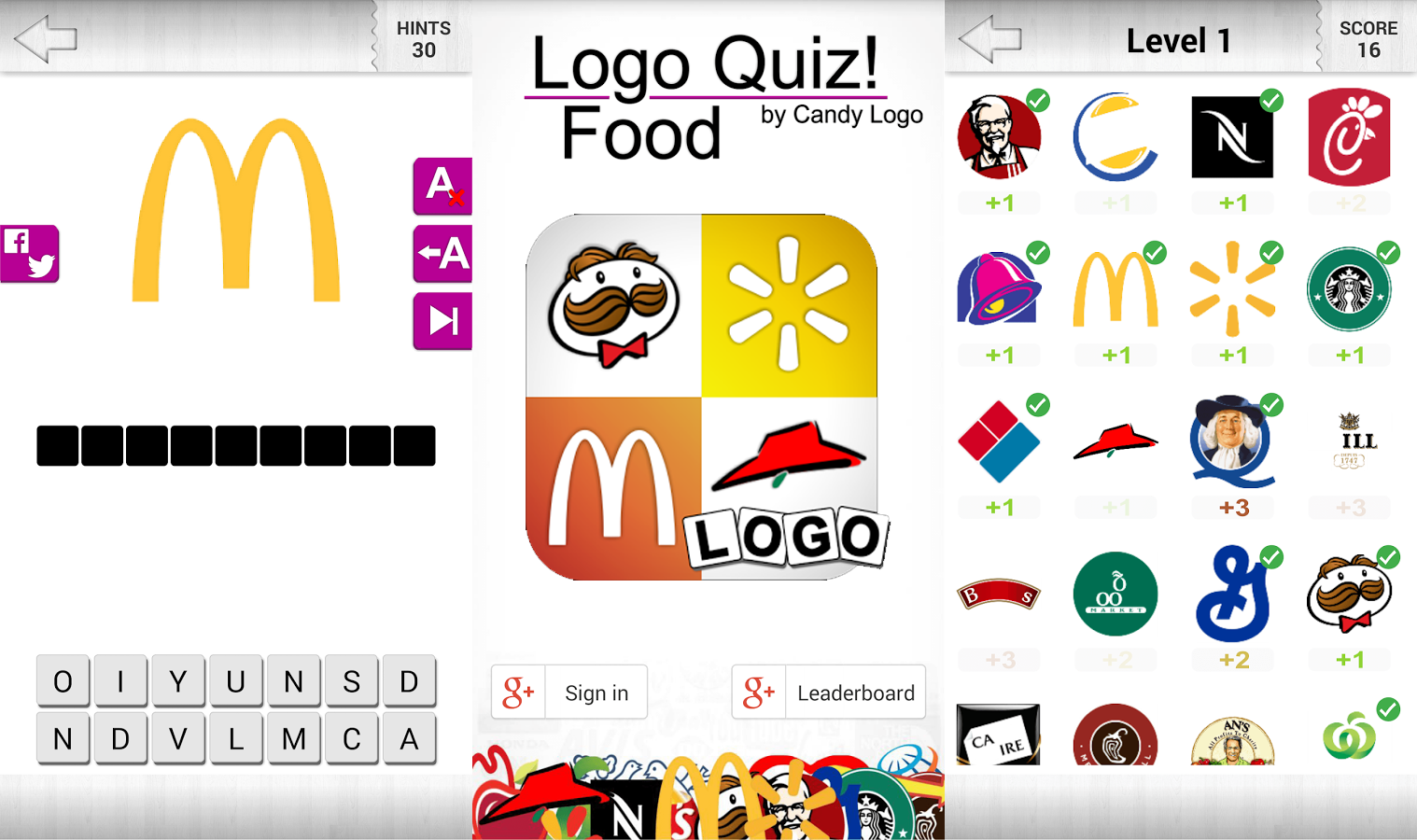 "Logo Quiz! - Food by ""Candy Logo"" Walkthrough ~ Doors Geek"