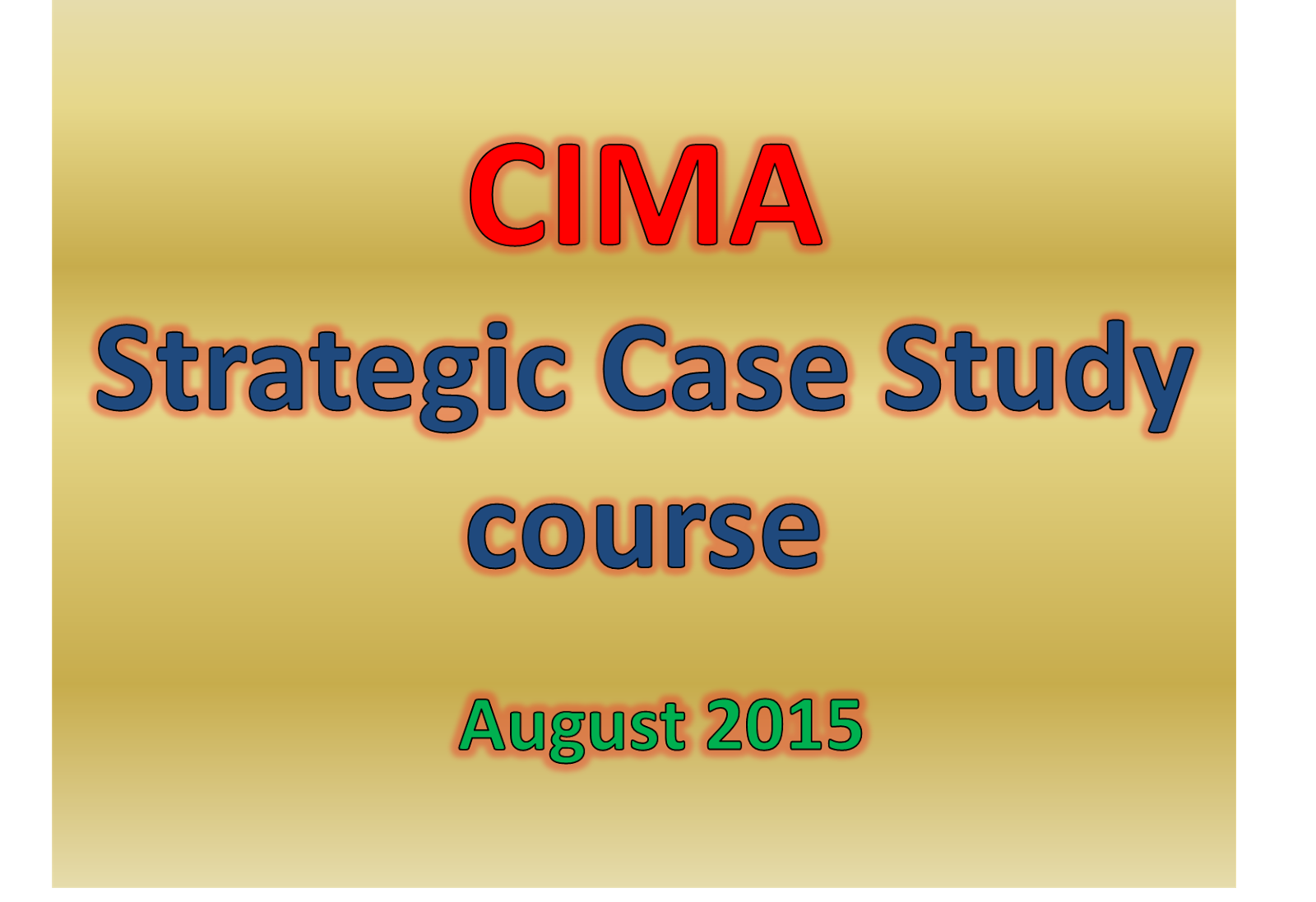 CIMA Management Case Study – A Winning Study Schedule