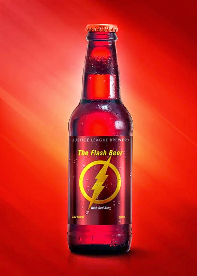 Beer Labels Based on DC Comics Justice League Superheroes