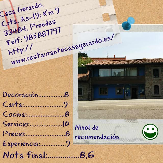 Ficha resumen experiencia Casa Gerardo