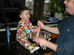 Making cookies with daddy