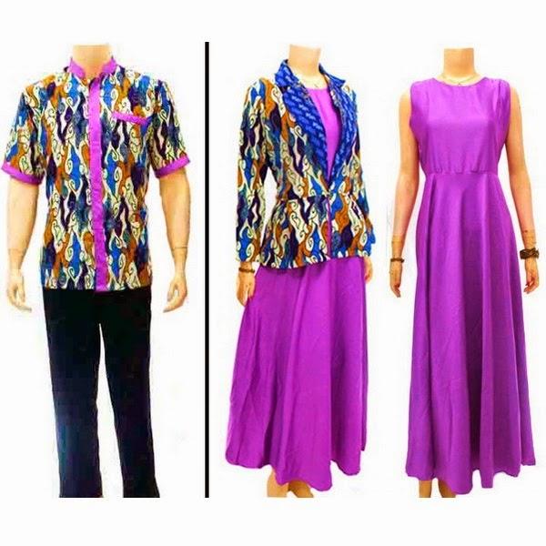 Baju Batik Pasangan Muslim Motif Mega Mendung