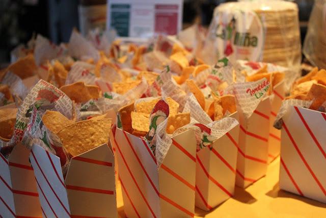 Tortilla chips from Tortilleria La Nina