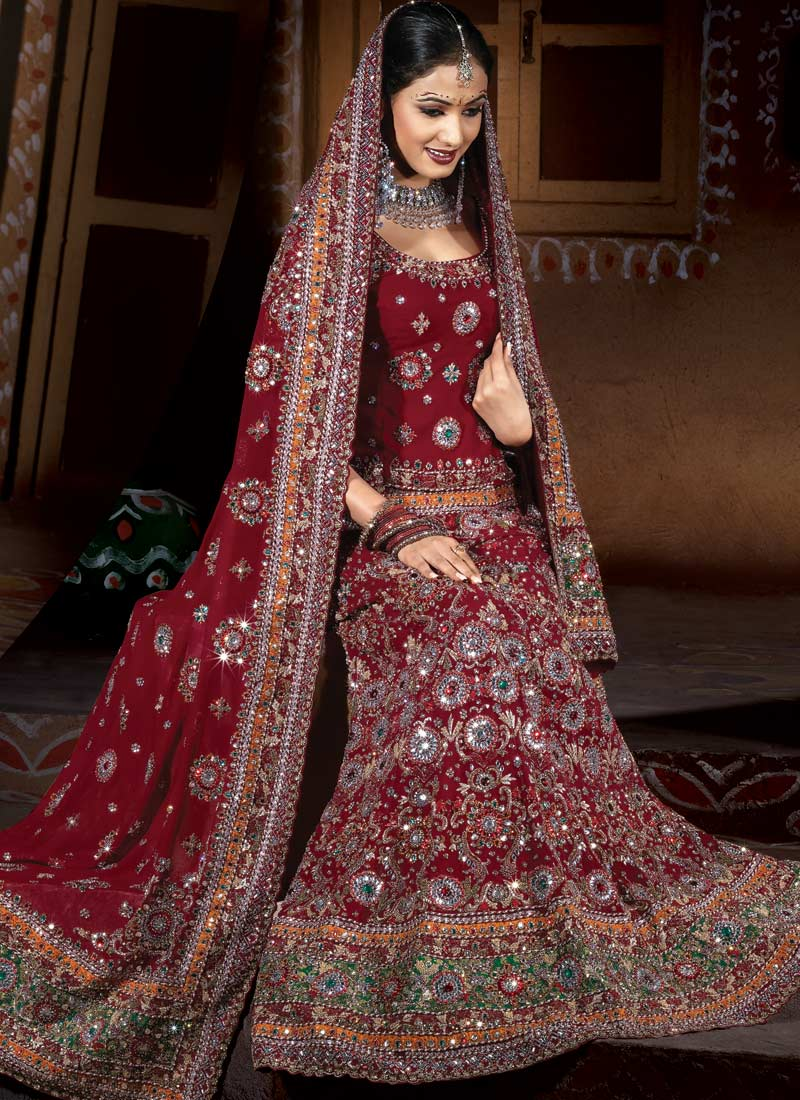 Fashion style indian wedding dresses 2012 for brides for Wedding bridal dresses indian
