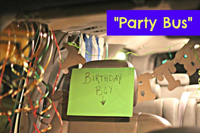 DIY Party Bus: Movie Birthday Party