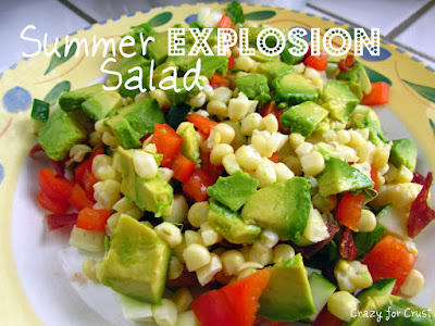 summer salad with corn and avocado