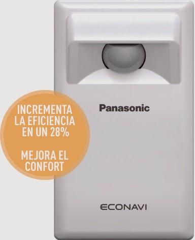sensor de aire acondicionado ECONAVI de Panasonic