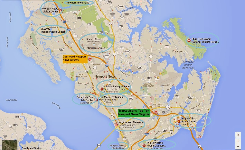 TripAdvisor Top Ten Attractions Newport News Virginia