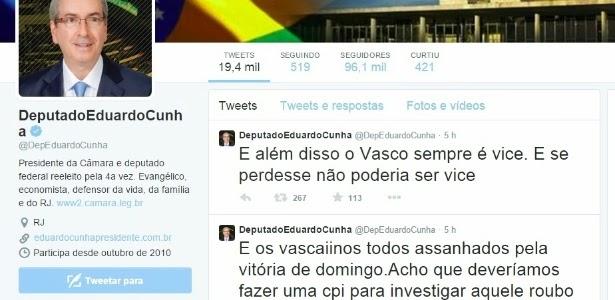 Eduardo Cunha também entra no chororô do invencível Mengão e quer CPI do Carioca