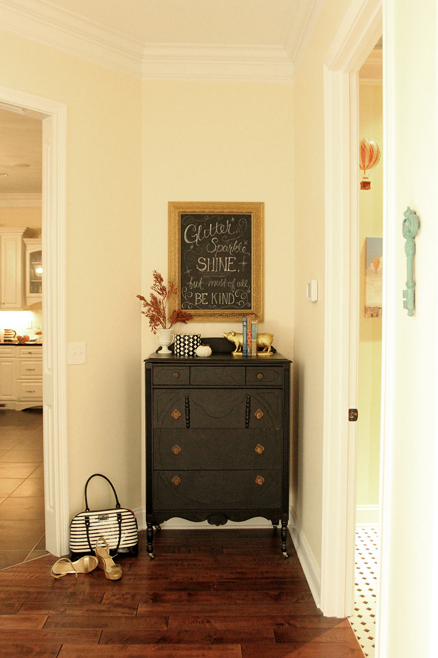 My New Chalkboard Wall! (and a Giveaway!) | Less Than Perfect Life ...