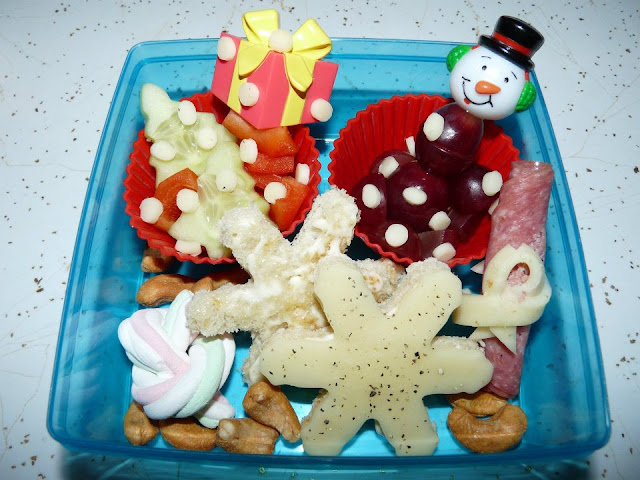 Snowflake winter bento lunch
