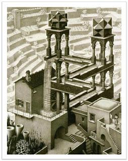 Escher - Waterfall, 1961