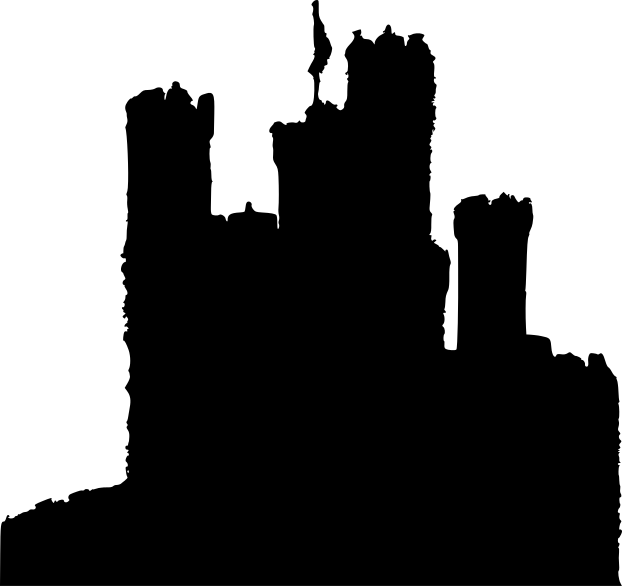 Image result for castle silhouette png