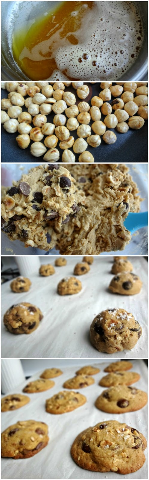 The Cooking Actress: Hazelnut Brown Butter Chocolate Chip Cookies