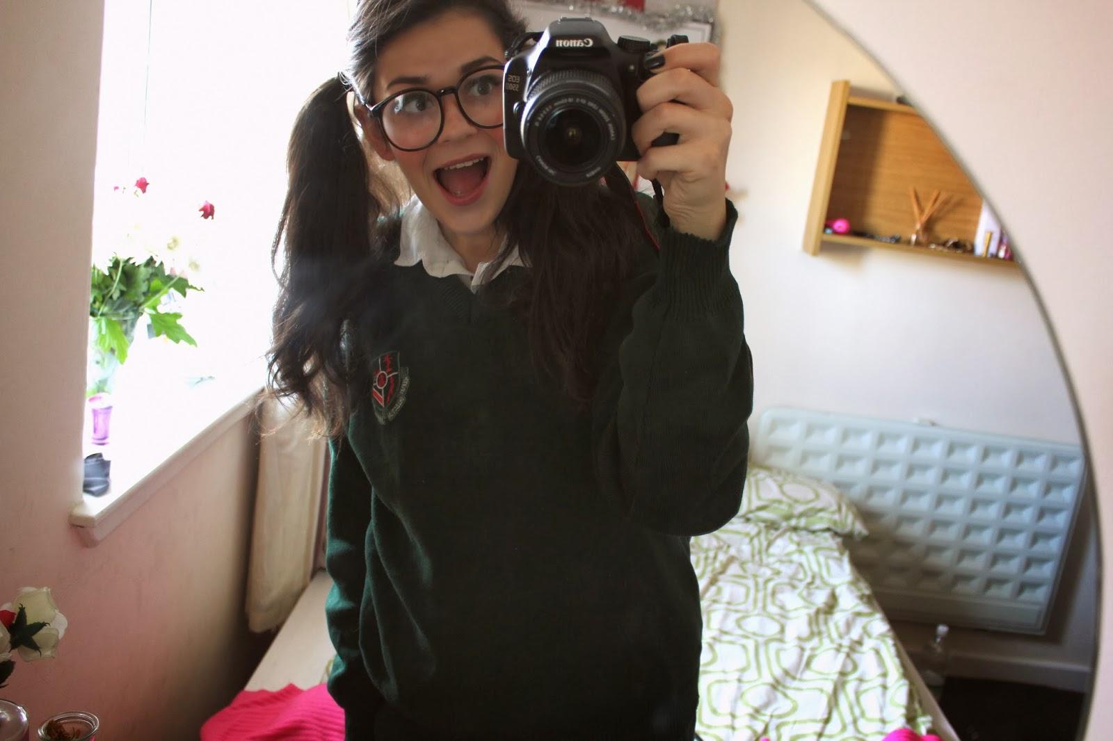 Geek, or rather a school girl