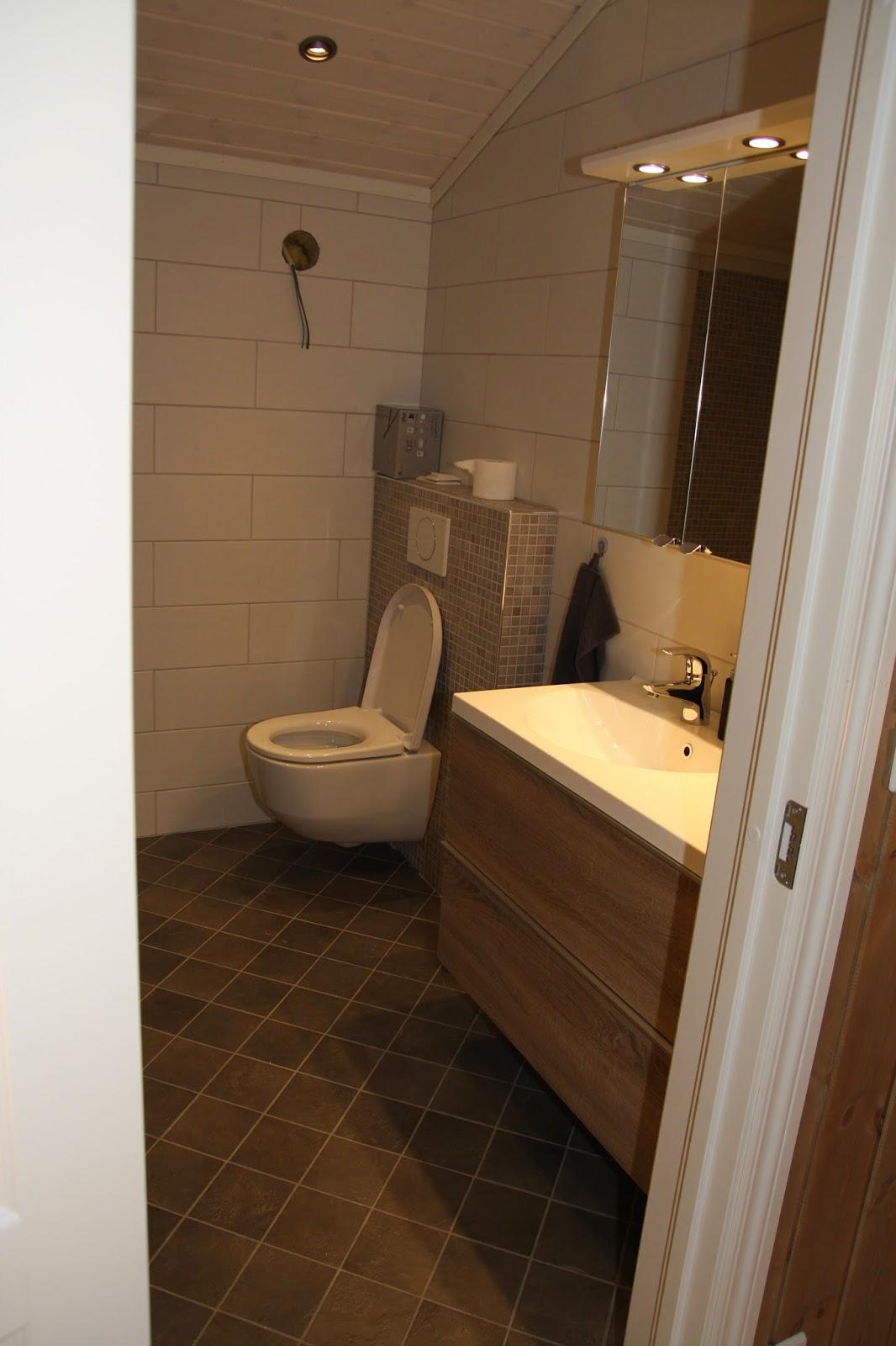 Hytte i Fagerlia: Kjøkkenmontering og (nesten) ferdige bad