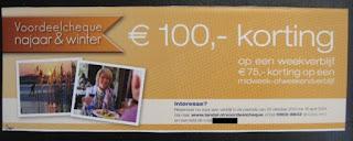 www.landal.nl/voordeelcheque 100 euro korting en voorkeursligging