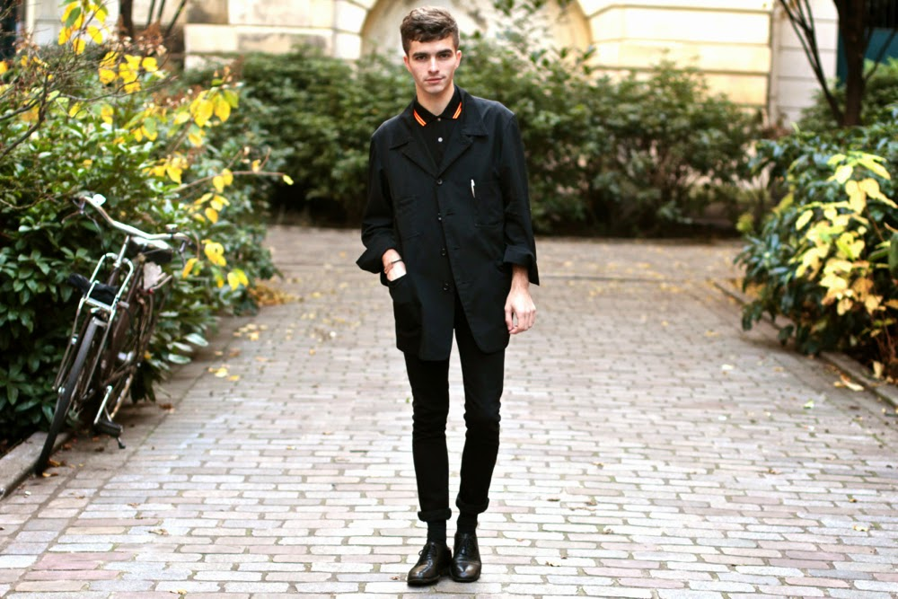yohji yamamoto veste blazer - polo neon soho fred perry - maison martin margiela shoes derby - asos skinny jeans - stylo balmain - blog mode homme - mensfashion - arthur socks