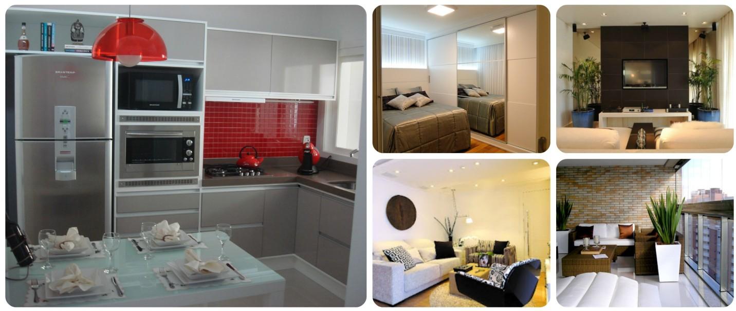 cozinha pequena decorada, quarto decorado, sala, banheiro