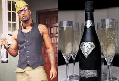 peter okoye champagne bottle amosu