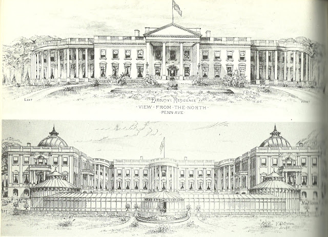 Art now and then the white house for Architecture design of white house