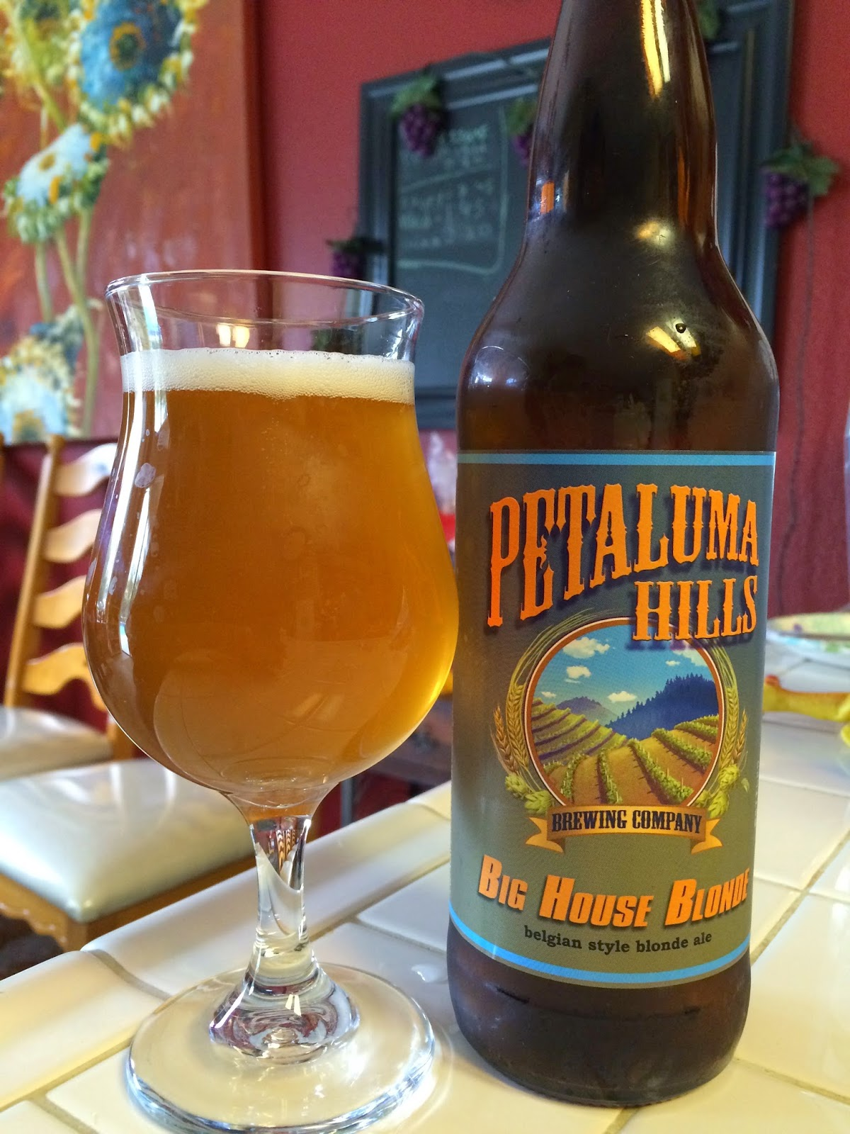 Petaluma Hills Belgian blonde ale 1