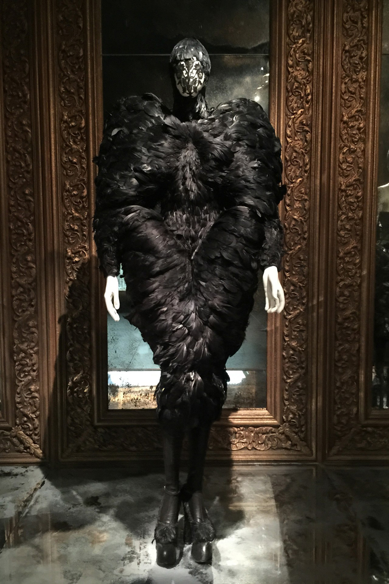 "Installation view of ""romantic gothic"" / Alexander McQueen Savage Beauty exhibition / Victoria & Albert Museum London / via fashioned by love british fashion blog"