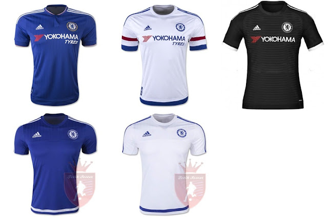 Jersey Chelsea Home, Away, Third 2015-2016