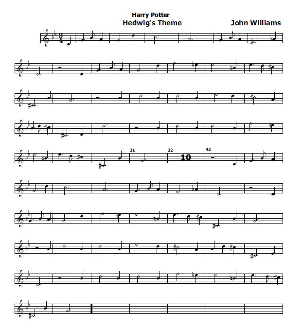 Musica e spartiti gratis per flauto dolce harry potter for Semplice creatore di piano gratuito