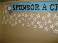 close up of Summer Reading's sponsors names on stars