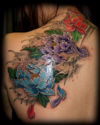 peony flower tattoo. Peonies are a common subject