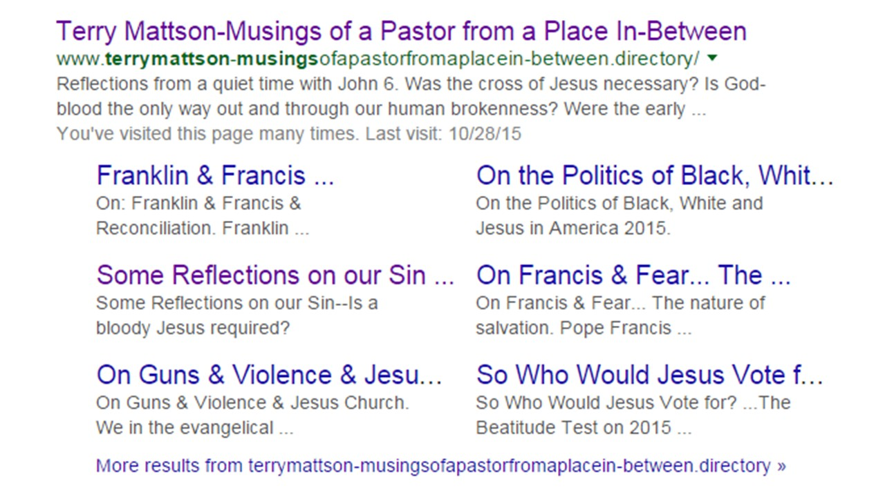 Terry Mattson-Musings of a Pastor from a Place in Between
