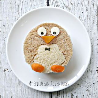 My Epicurean Adventures: Penguin Sandwich #lunchboxideas #lunchboxfun