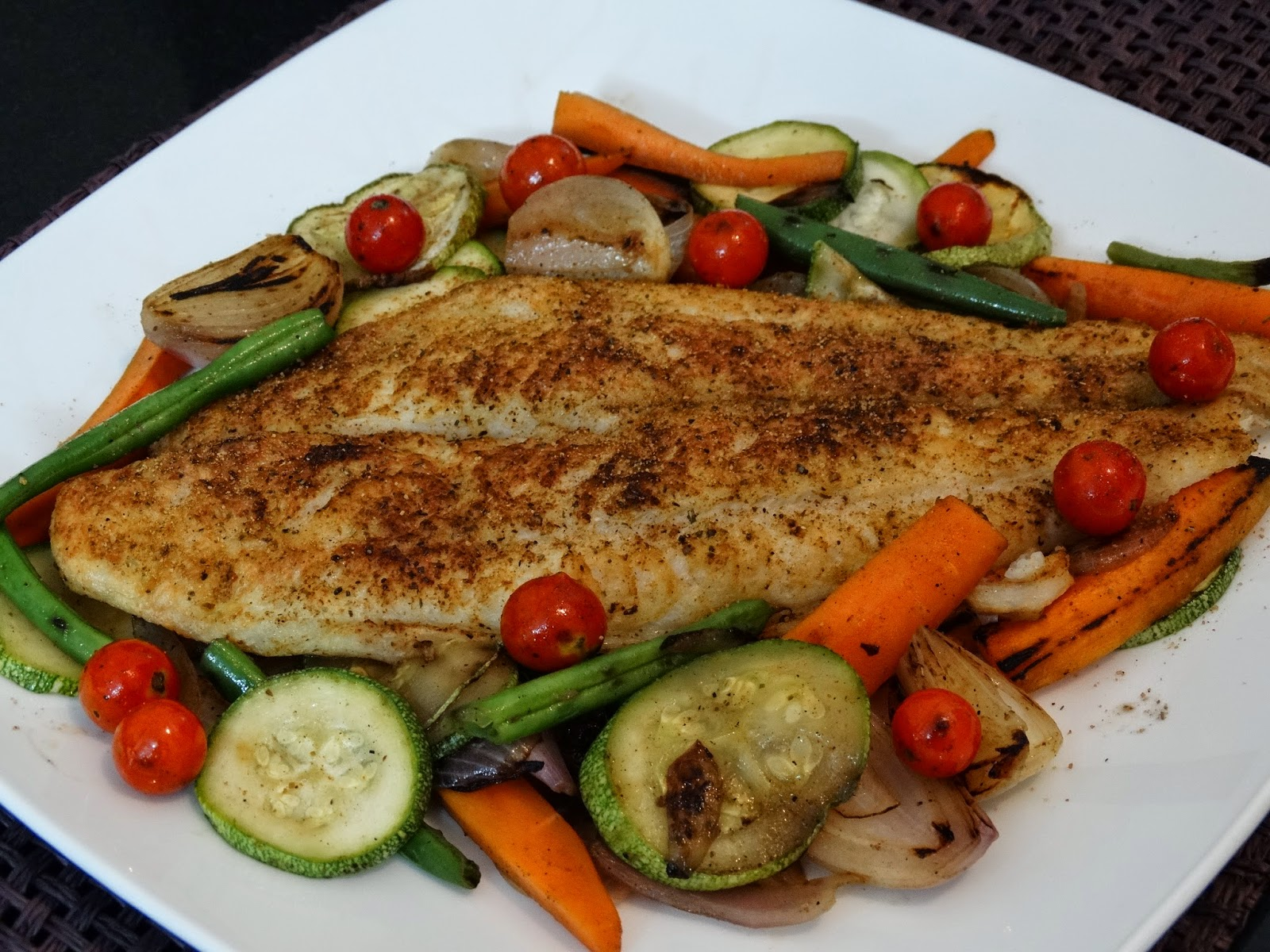 Cooking is therapeutic go ahead and indulge rainingfood for Grilled white fish recipes