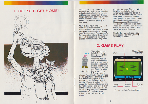 scan from the instruction manual of E.T. The Extra Terrestrial for the ATARI 2600