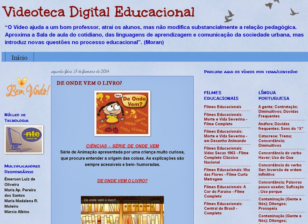 Blog Videoteca Digital Educacional