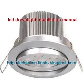 led downlight installation manual