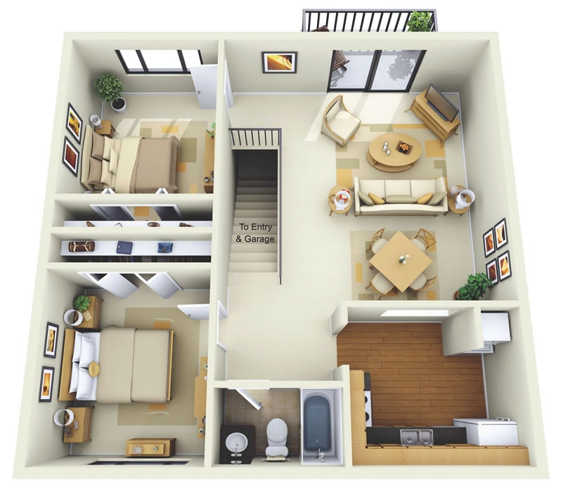 summit chase apartments - Simple Floor Plans 2