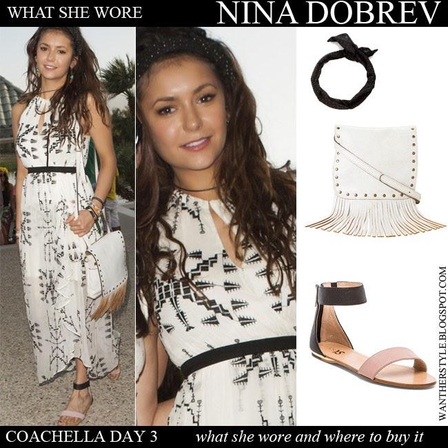 Nina Dobrev Flat Sandals