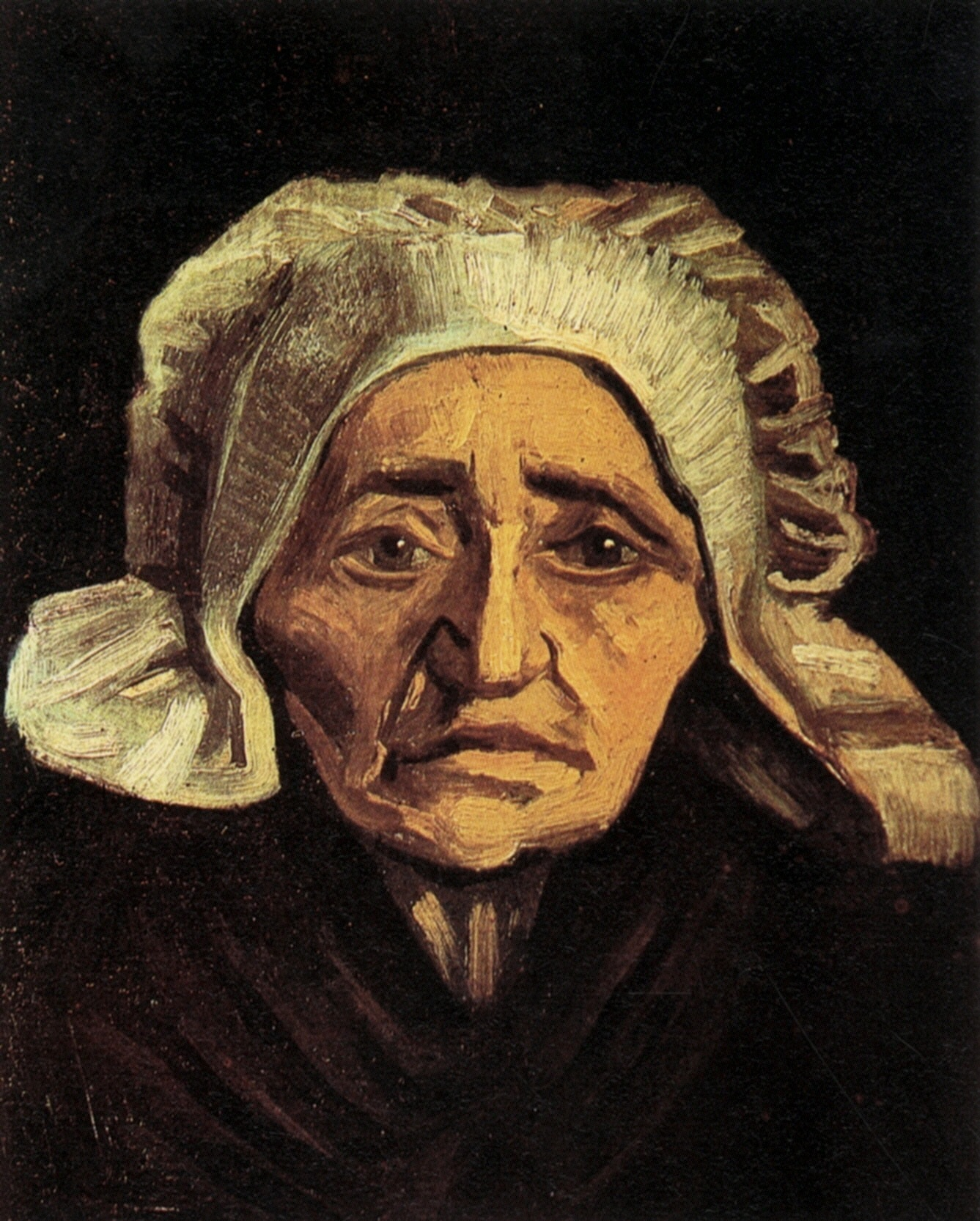 Head of an Old Peasant Woman with White Cap (F 146, JH 551) by Vincent van Gogh